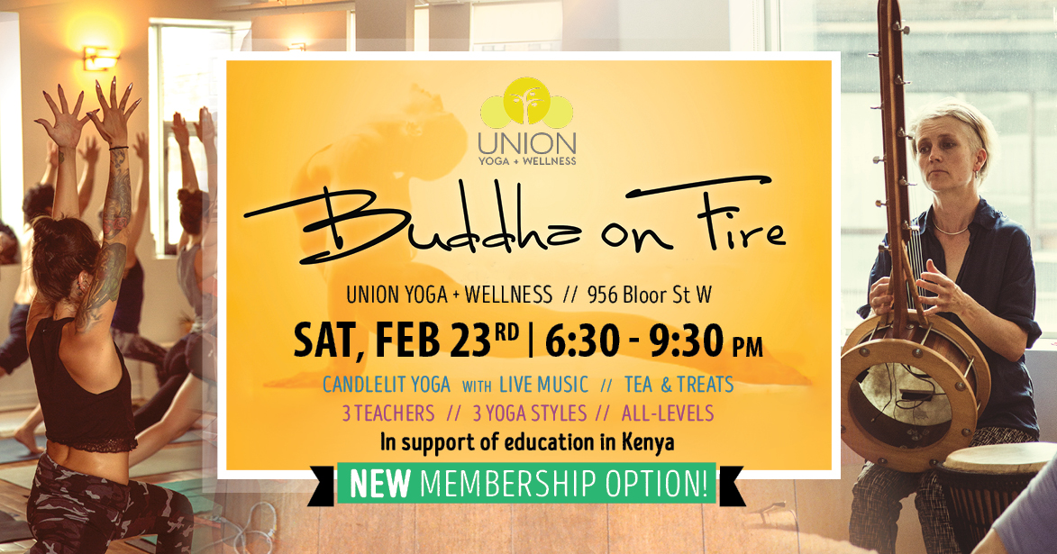 Banner image for Buddha on Fire yoga event in Toronto happening on Feb 23rd